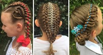 Chaque matin, elle coiffe sa fille avant d'aller à l'école: les passants l'arrêtent pour l'admirer