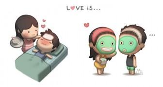 Eine Geschichte von 6 Jahren als Comic: Ein Mann erklärt uns die Liebe