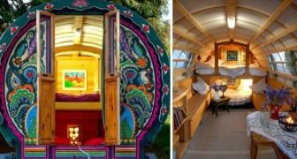 Un uomo costruisce e dipinge splendidi caravan di legno riprendendo lo stile gitano