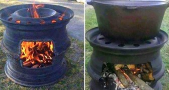If you have no idea what to do with two old tire rims?! ... here is something very useful!