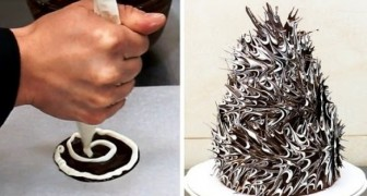 Here's how to make an original decoration for a chocolate cake using a very simple process!
