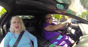 Two women no longer young climb into a Lamborghini --- their reactions are hilarious!