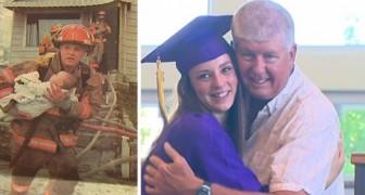 Un pompier sauve un bébé des flammes... 17 ans plus tard elle le remercie comme ça