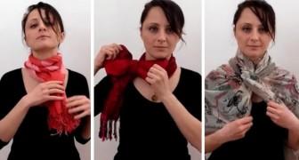 Cette femme vous montre 3 façons originales et élégantes de porter une écharpe