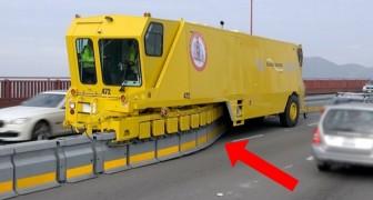 Ecco come riescono a spostare le corsie della autostrade in pochi minuti e senza rischi