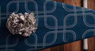 Aluminiumfolie på strykbrädan: med det här tipset kommer ni att spara tid ... och pengar!
