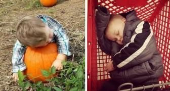 Queste 15 immagini dimostrano che i bambini possono dormire OVUNQUE
