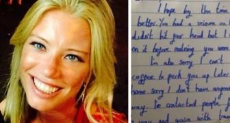 Een Meisje Valt Flauw In De Trein, Maar Als Ze Weer Bijkomt Leest Ze Een Berichtje Dat Ze Nooit Meer Zal Vergeten