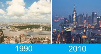 20 villes photographiées à distance de 20 ans : les changements sont incroyables (ou dramatiques?)