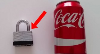 Have you lost the key to your padlock? -- No sweat! You can use a coke can...