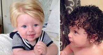 Certains bébés sont loin d'être chauves quand ils naissent: en voici des exemples adorables