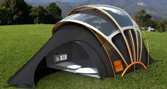 Il campeggio ti spaventa? Ecco la tenda che produce luce, calore, elettricità ed internet.