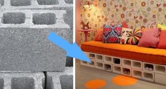 Man nutzt sie auf Baustellen aber sie sind auch optimale Einrichtungsgegenstände: 14 Ideen für Zementblöcke