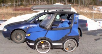 Todos acham que é um pequeno carro, mas espere até ver o seu interno...