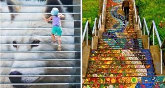 32 scalinate sparse per il mondo che la street art ha trasformato in potenti opere d'arte