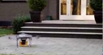 Un robot consegna a domicilio