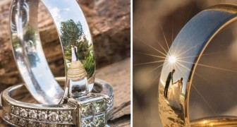 Il veut photographier l'image des mariés refletée sur leurs alliances : après des années de tentatives, le résultat est merveilleux