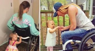 Deze vrouw zit in een rolstoel, maar dat weerhoudt haar er niet van om haar dochter te leren lopen!