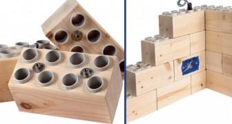 Echte huizen bouwen met Lego reuzen: het revolutionaire idee van een Italiaanse ingenieur