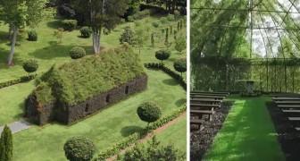 Sognava di creare una chiesa fatta da alberi in giardino: dopo 4 anni il risultato è incantevole