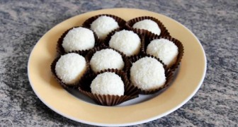 Exquisite Coconut Pralines  --- only three ingredients and NO COOKING . . .