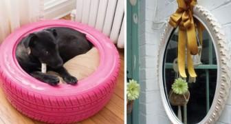 12 ingenieuze manieren om uw banden te veranderen in prachtige decoratieve objecten