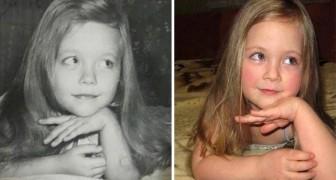 Les parents et les enfants photographiés au même âge: la ressemblance est extraordinaire