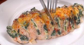 Dit is een eenvoudig recept voor het bereiden van Hasselback kip: onweerstaanbaar lekker!