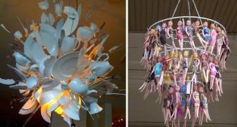Zelf een kroonluchter maken? Hier volgen een aantal voorbeelden van de meest BIZARRE kroonluchter creaties!