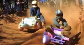 Rennen mit dem Baby-Jeep