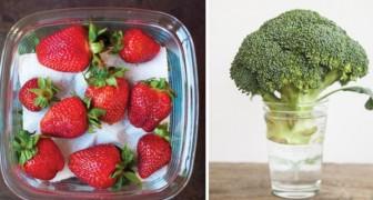 Alcuni utili trucchi per conservare frutta e verdura al meglio e più a lungo