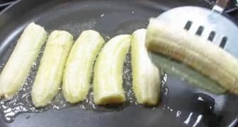 Inizia mettendo le banane in padella: ma è la mossa finale a dare il tocco di classe!