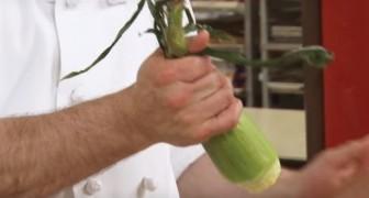 En quelques secondes, il réussit à séparer les feuilles de l'épi de maïs avec une astuce absolument géniale