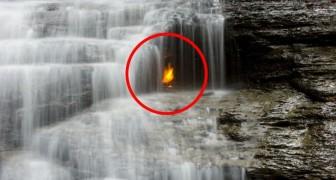 Den eviga flamman under vattenfallet: ett mysterium som forskare ännu inte har löst