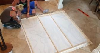 Montano la tenda della doccia su un telaio... Ecco come decorare spendendo pochissimo