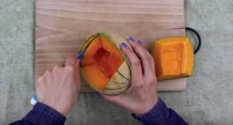 Comece abrindo um buraco no melão... veja uma nova delícia para seu paladar!