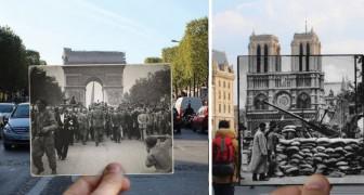 Parigi ieri e oggi: 13 foto della fine della guerra inserite nella città moderna