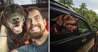 Ciò che fa quest'uomo per il suo cane anziano è uno splendido inno alla vita e all'amore