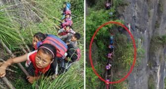 Koste wat het kost studeren: deze kinderen moeten ELKE DAG een bijzondere weg afleggen om naar school te kunnen!