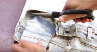 Cut out the jeans pockets --- and create something for expectant mothers!