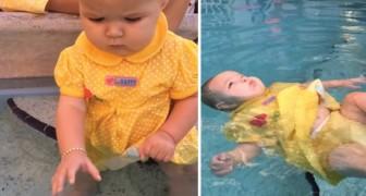 La piccola frequenta un corso di nuoto per neonati: ciò che ha imparato potrebbe salvarle la vita