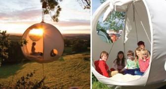Le camping de rêve :  voici la tente qui vous permet de dormir suspendu entre les arbres