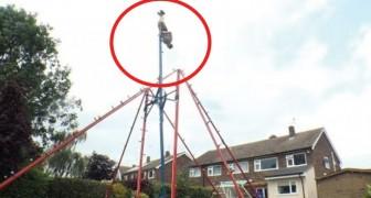 Il monte dans le jardin une balançoire gigantesque: regardez ce qu'il est capable de faire... Wow!