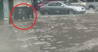 Een jongen merkt iets op tijdens een overstroming: zijn ingrijpen is allesbepalend!