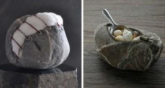 Pendant son temps libre il collecte des pierres, mais la façon dont il les transforme est unique en son genre