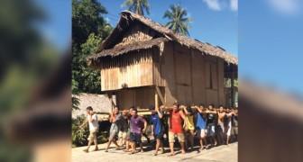 Ecco come avvengono i traslochi in questa cittadina filippina... Wow!