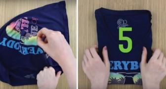 Wie man ein T-Shirt in weniger als 5 Sekunden faltet