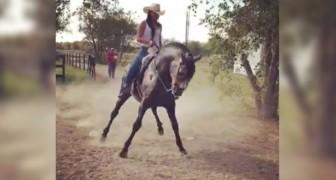 Une fille et son cheval se déchaînent sur une danse folklorique incroyable!