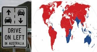 Waarom rijden ze in sommige landen rechts en andere links?