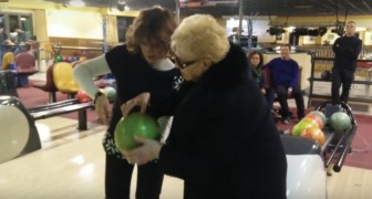 She had never set foot in a bowling alley before ... WoW!